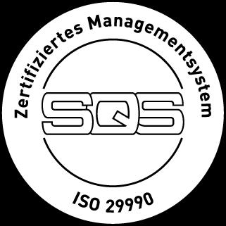 SQS ISO 29990 Zertifikat